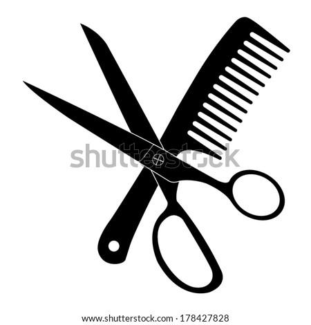 hair stylist scissors vector - photo #19