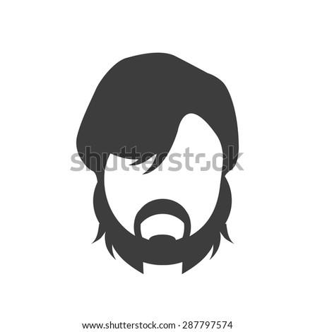 hair style icon - stock vector