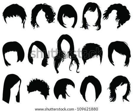Hair styling-vector - stock vector