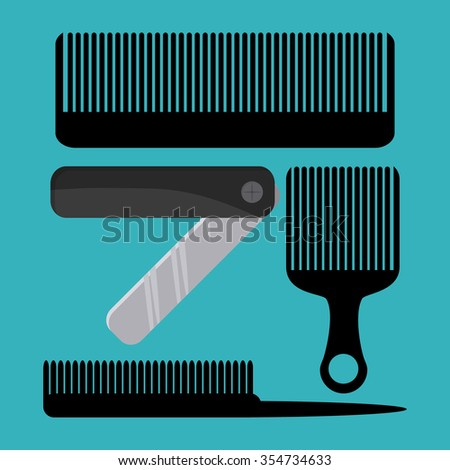 Hairdresser concept with salon  icons design, vector illustration 10 eps graphic.
