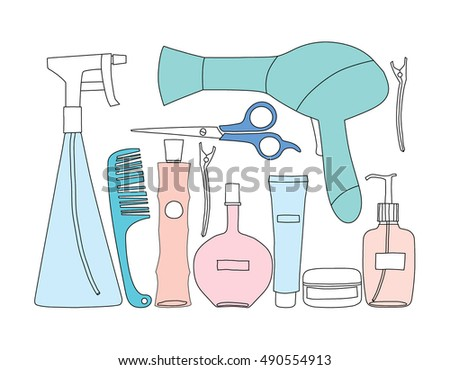 Hairdresser tool. vector illustration.