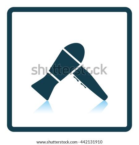 Hairdryer icon. Shadow reflection design. Vector illustration. - stock vector