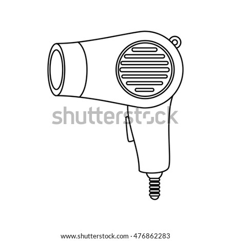 hairdryer salon hairdresser isolated