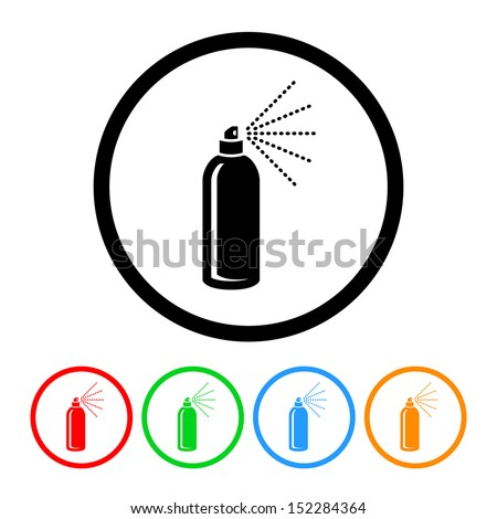 Hairspray Icon with Color Variations - stock vector