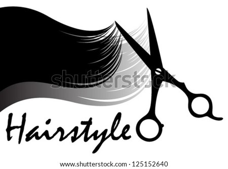 hairstyle icon - stock vector