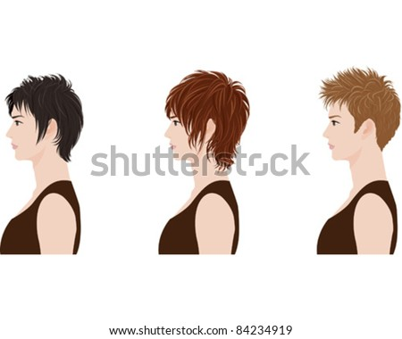 Hairstyle?Man - stock vector