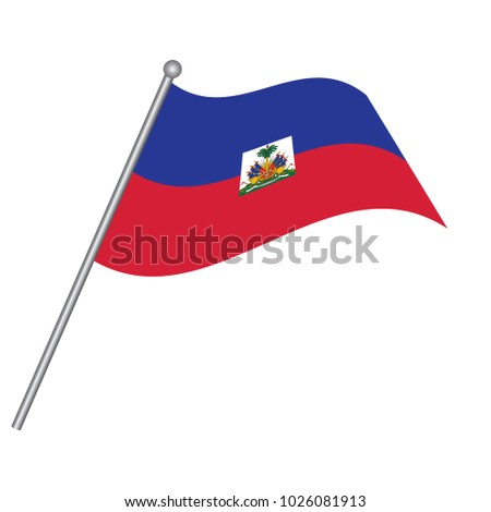 Haiti Flag National Flag Haiti On Stock Vector 1026081913 Shutterstock