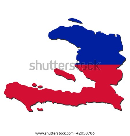 Haiti map flag