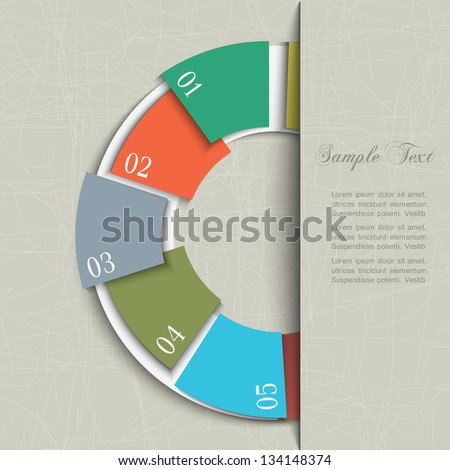 Half circle design template for infographics and website templates. Vector EPS10 - stock vector