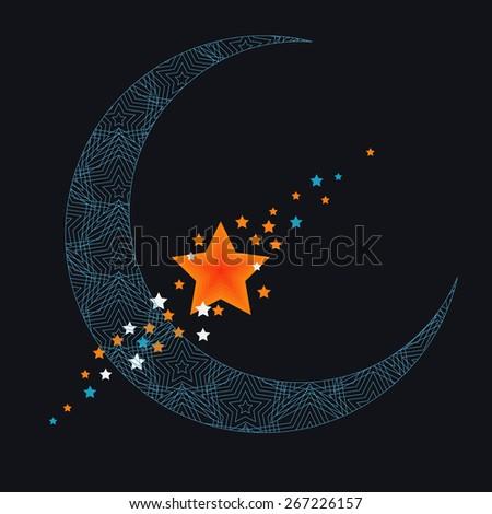 crescent moon stock photos royaltyfree images  vectors