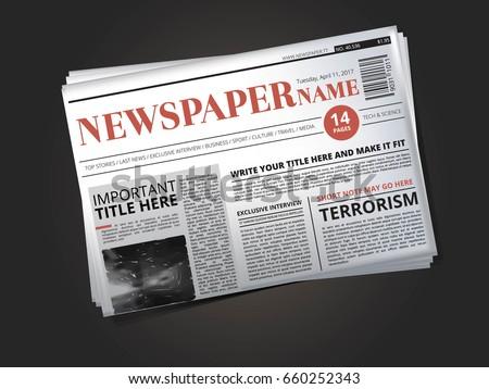 Top Result 70 New Fake Newspaper Template Pic 2017 Kse4 2017 Best