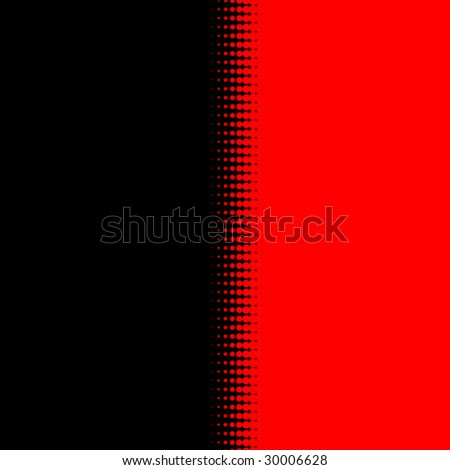 Half-tone background black and red - stock vector