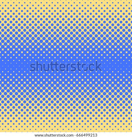Halftone abstract background in blue and complement colors