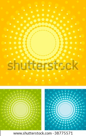 Halftone background - stock vector