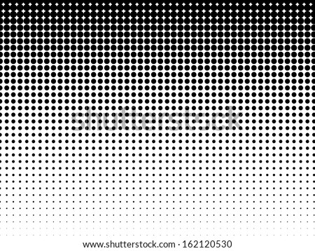 Halftone background. Black-white - stock vector