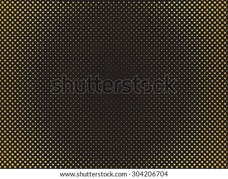 Halftone background.Dotted abstract  background.Golden background.Vector illustration.
