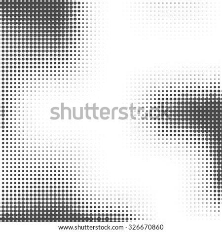 Halftone background. Halftone dots. Halftone wallpaper.  Halftone grunge. Halftone effect. Simple Vector Halftone Texture.  - stock vector