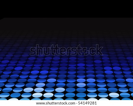 Halftone Background in Perspective. Editable Vector Background - stock vector