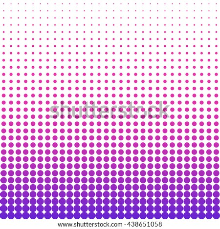 Halftone colorful pattern. Dotted wallpaper from pink to purple on white background. - stock vector