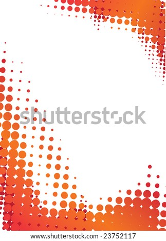 halftone design - stock vector