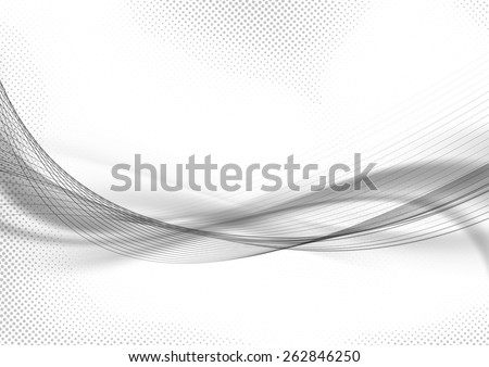 Halftone dot pattern swoosh layout abstract template. Vector illustration - stock vector