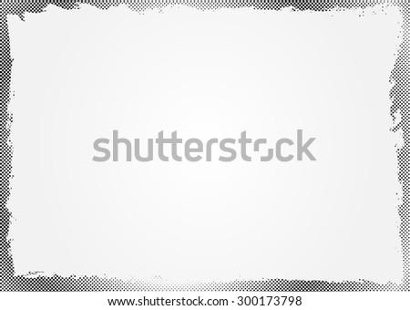 Halftone dots background.Grunge halftone frame.Vector illustration. - stock vector