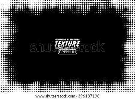 Halftone dots background - Logo Design Element. Abstract vector template - stock vector