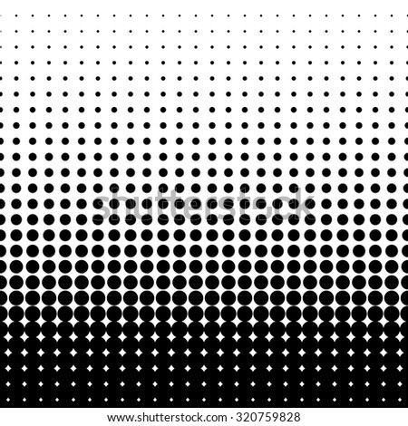 halftone dots. Black dots on white background. vector illustration - stock vector