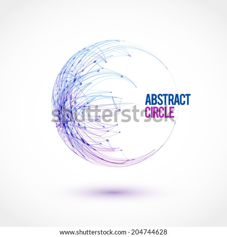 Halftone dots circle. Vector illustration. - stock vector