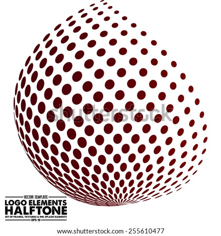 Halftone dots - Logo Design Element. Abstract vector template - easy to use