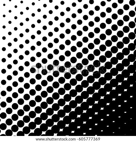 Halftone Dots On Black Background Halftone Stock Vector 605777369