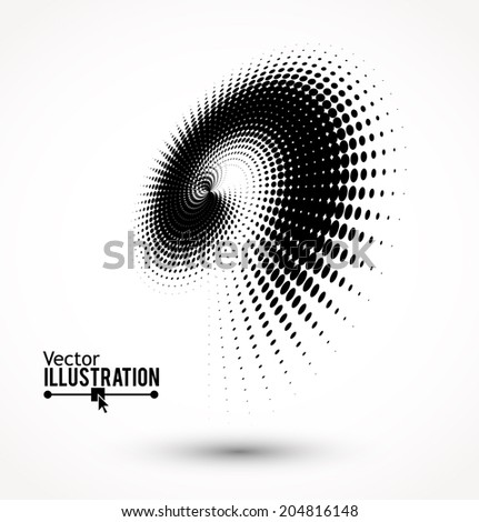 Halftone dots sign. Vector illustration. - stock vector