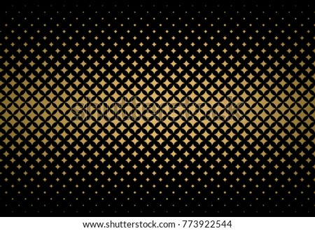 halftone effect gradients, gold and black vector background