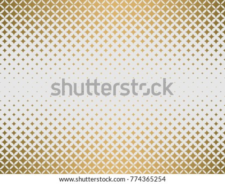 halftone effect gradients, gold and white vector background