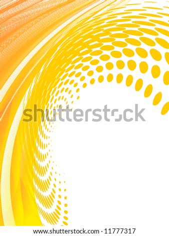 halftone effect, vector without gradient - stock vector