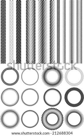 Halftone elements - stock vector
