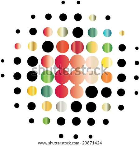 halftone pattern - stock vector