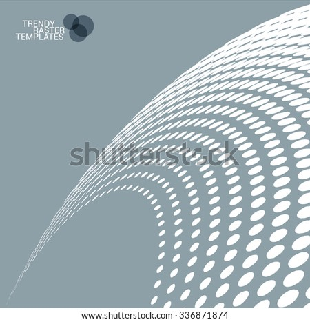 Halftone screen presentation template. Vector. - stock vector