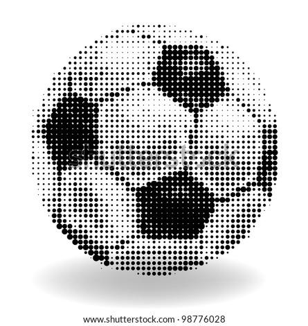 Halftone soccer ball - stock vector