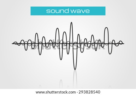 Halftone sound wave modern music design  - stock vector