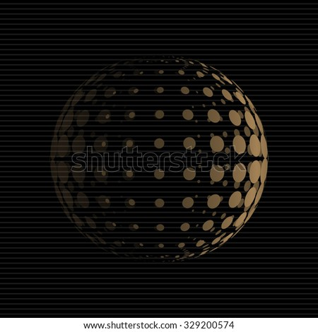 Halftone Sphere. Halftone Design Element. Abstract Globe Logo Template. Vector Illustration.