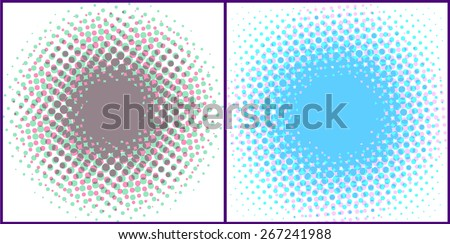 Halftone spotted backgrounds. Vector eps10. - stock vector