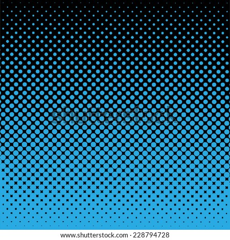 Halftone vector illustration - stock vector