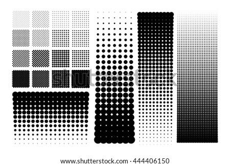 Halftones dots - stock vector