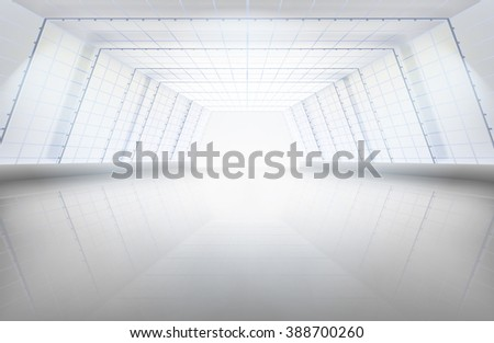 Hall, large space. Vector illustration. - stock vector