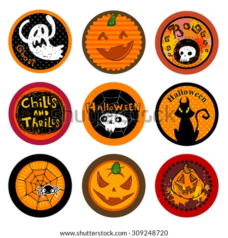 Hallooween Vector drink coasters for any party.