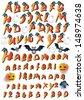 Halloween Alphabet - stock vector