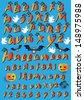 Halloween Alphabet  by Night - stock vector
