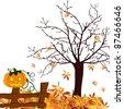 halloween - autumn - vector - stock vector