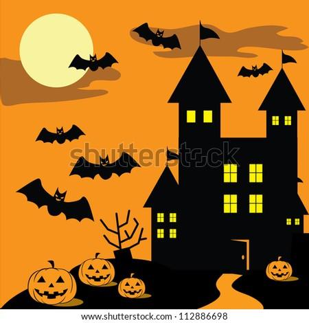 Halloween-Background Design, Vector - stock vector